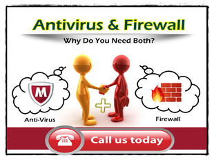 Antivirus and firewall